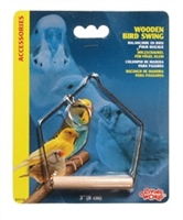 "Living World Wooden Bird Swing Small - (3"" x 4"")"