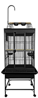 "24x22 Playtop Cage with 3/4"" Bar Spacing - 8002422 BLACK"
