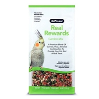 REAL REWARDS GARDEN MIX MEDIUM BIRD TREATS 6 OZ.