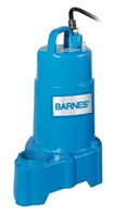 "Barnes Solids Handling Submersible Sump Pump Standard Float 1/2"" - 112549"