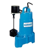 "Barnes Solids Handling Submersible Sump Pump 1/2"" - 112879"