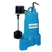 "Barnes Solids Handling Submersible Sump Pump with Alarm 1/2"" - 112914"