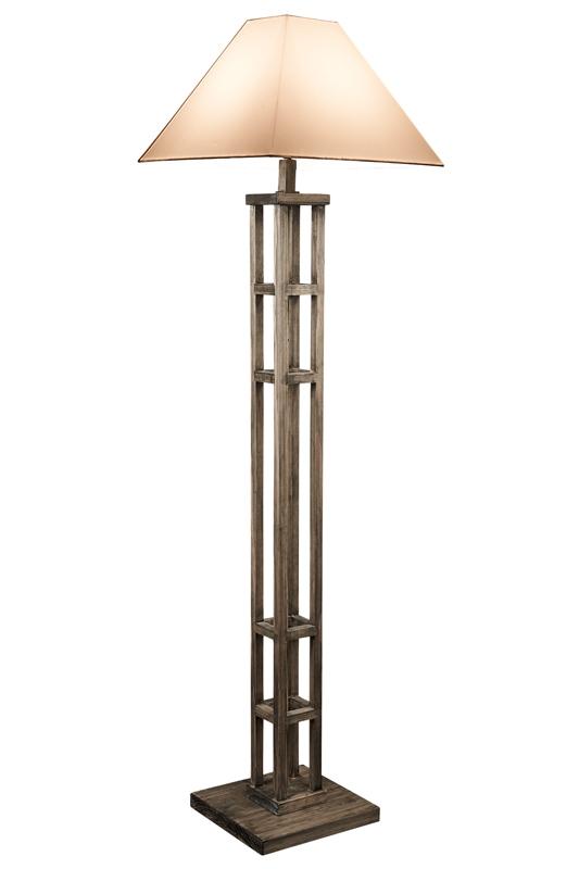 Rustic Modern Wooden Floor Lamp