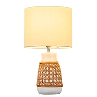 White Tabaso Ceramic Lamp