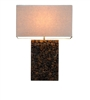 Large Teak Chips Mosaic Table Lamp