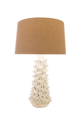 White Coral Ceramic Lamp