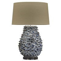Blue and White Coral Ceramic Lamp L468