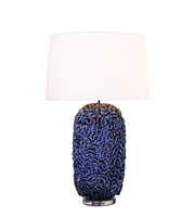 Similan Blue Ceramic Lamp