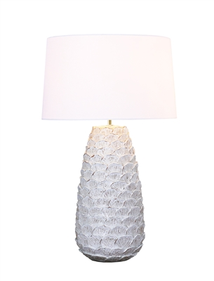 White Sea Flower Ceramic Lamp