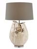 White Ceramic Crab Lamp L483W