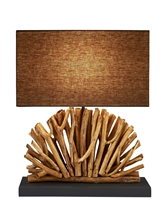 Fan shape Eucalyptus  Branch Table Lamp
