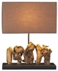 Aragon Scupted Teak  Table Lamp
