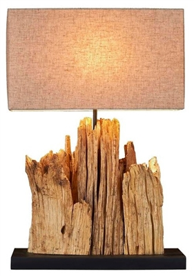 Mini Vertico Riverine Driftwood Table lamp