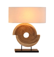 Natural Geometrical Acacia Lamp L680