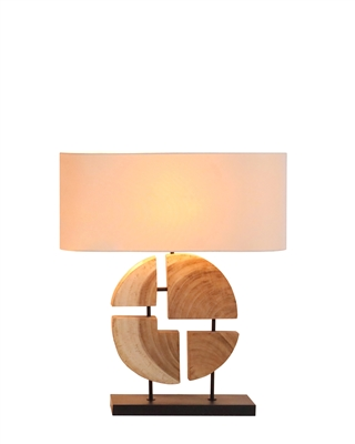 Natural Geometric Acacia Wooden Lamp L682