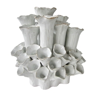 SEA FLOWERS WHITE VASE V113
