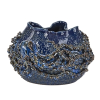 Blue Octopus Ceramic Bowl