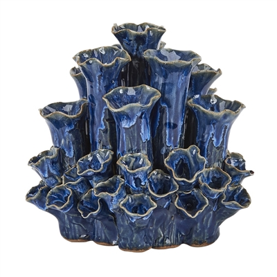Royal Blue Coral Vase V146