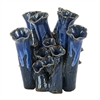 Royal Blue Coral Vase V147