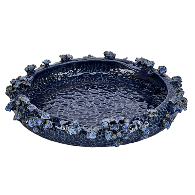 Blue Sea Flower Platter V158B