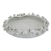 White Sea Flower Platter V158W