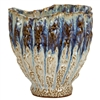 Blue, Purple and White Effect Thai Ceramic Vase V206