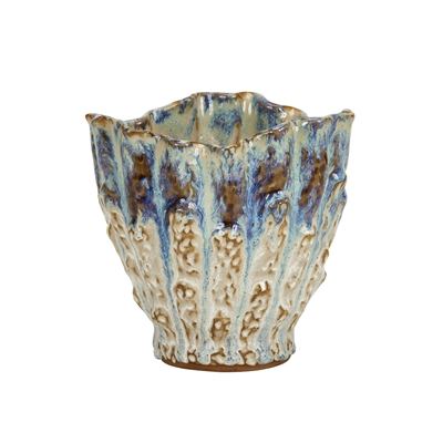 Blue, Purple & White Effect Thai Ceramic Vase V206L