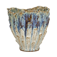Blue, Purple & White Effect Thai Ceramic Vase V206M