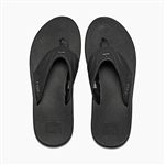 reef fanning low black bottle opener sandal