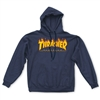 thrasher magazine flame hood navy
