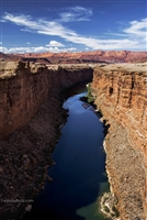 Beginning of Colorado River from Navajo Bridge which crosses at Marble Canyon | Landscape Photography