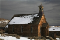 Winter Sunlight on Church | Bodie Ghost Town