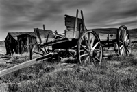 Black and White Buckboard in Bodie | Fine Art Photography