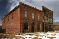 Winter Frontal View of Brick Building on Main Street Brodie | Fine Art Prints of California