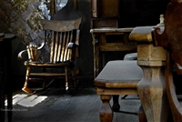 Winter Sunlight on Chair in House | Fine Art Prints of Bodie Ghost Town | Winter Sunlight
