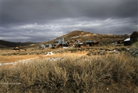 Gray Winter Day Overlooking Bodie Abandoned Mine | Fine Art Prints of Rustic California