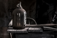 Memories Past | Rustic Fine Art Prints of Glass Jug on Wooden Desk