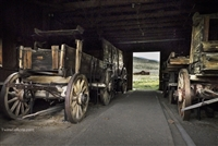 Wagons in Shed | Fine Art Photography Prints of California Ghost towns.