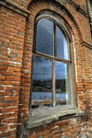 Winter Reflections | Fine Art Photography Print of Window in Abandoned Building