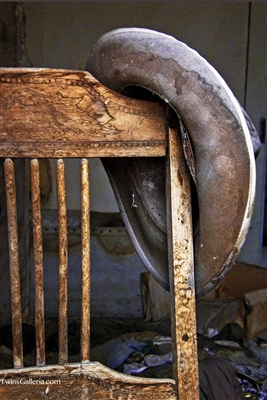Fine Art Photography | Cowboy Hat on Chair in Bodie