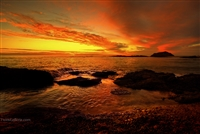 Landscape Photography Prints  | Laguna Beach Sunset | Waves Over Rocks