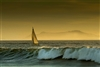 California Landscape Photography Prints | Sailboat off Oxnard with Catalina in Background