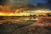 Fine Art Photography | Golden Stormy Sunset at Mono Lake | Landscape Photography