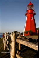 Fine Art Photography | Landscape Photography | Red Lighthouse in Quebec, Canada