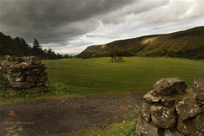 Picnic in the Pasture | Fine Art Prints of Storm Clouds on the Countryside in Ireland