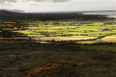 Ireland Landscape & Fine Art Photography Print: Valley Sunlight Farms