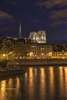 Notre Dame at Night with River Lights