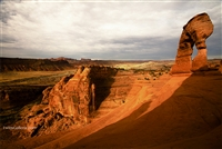Arches National Park Landscape Photography Print: Delicate Arch and Valley at Sunrise