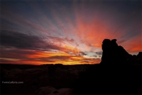 Arches National Park Landscape Photography Print: Brilliant Sunrise at Arches