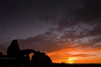 Arches National Park Landscape Photography Print: Sunset at Arches